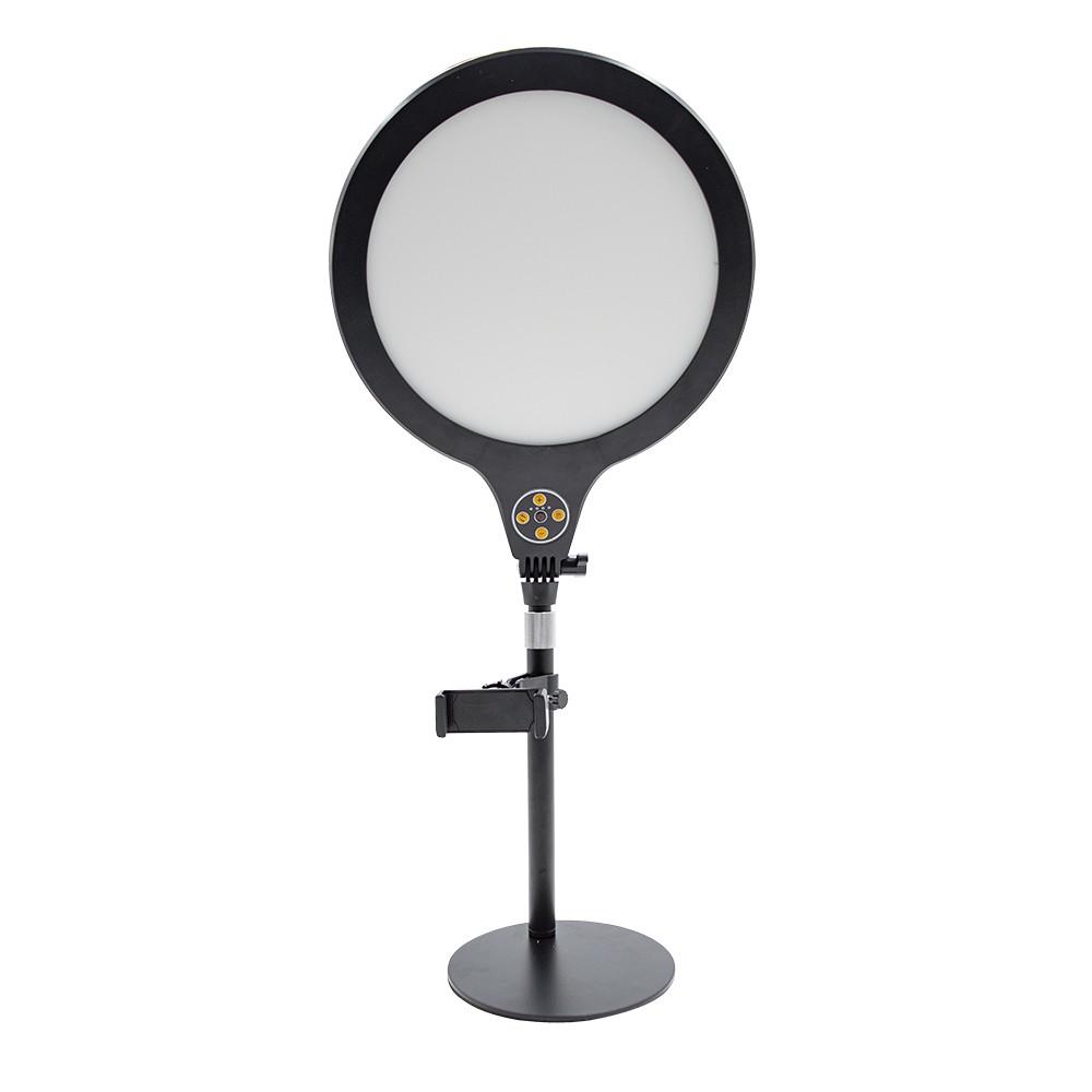 Lampada Led selfie da tavolo 26 cm con supporto 730485 timer e 3 modalità luce