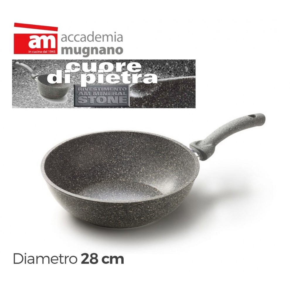 Saltapasta 28 cm pietra antigraffio Accademia Mugnano CUORE DI PIETRA