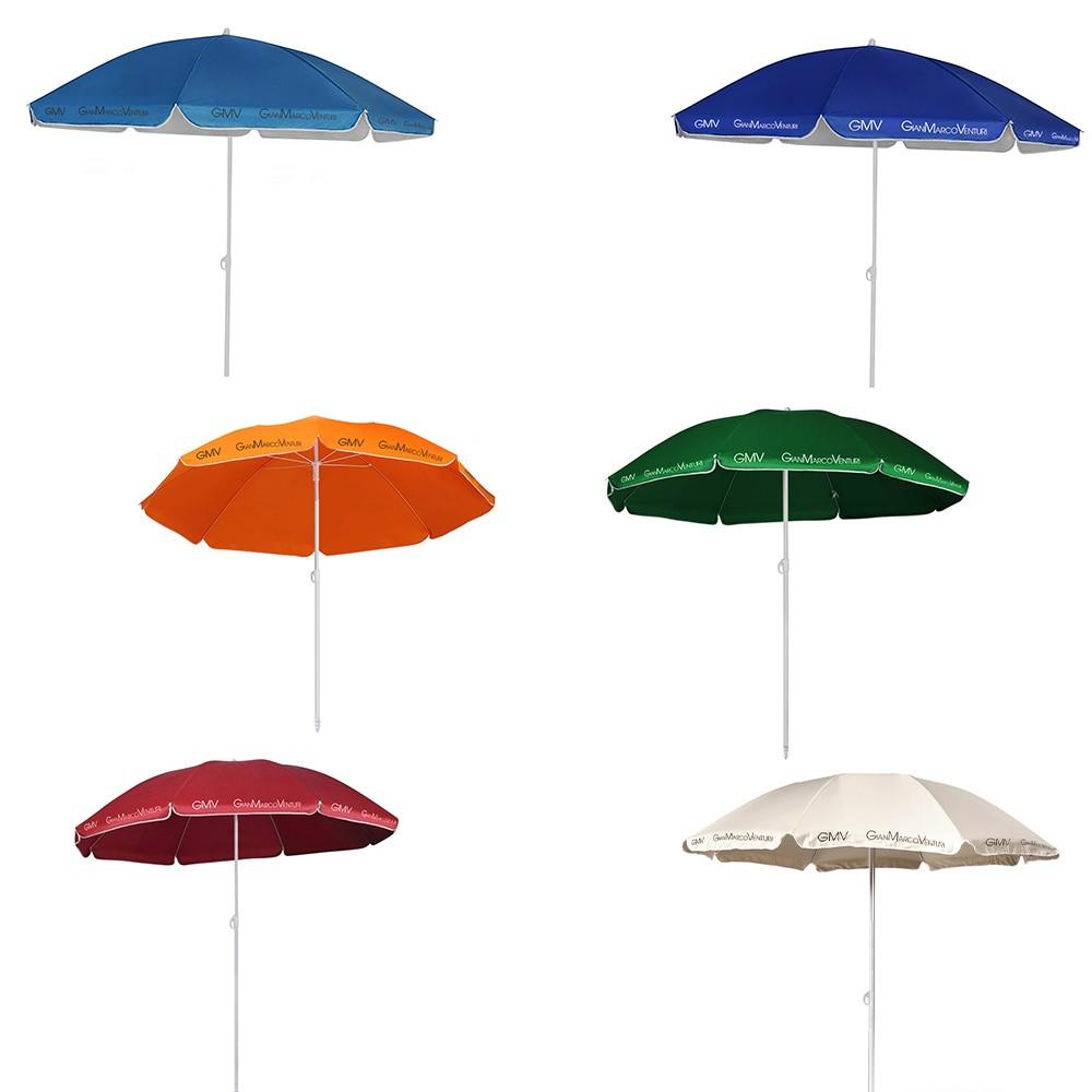 Ombrellone da Mare Gian Marco Venturi 543719 con Palo centrale 160 cm