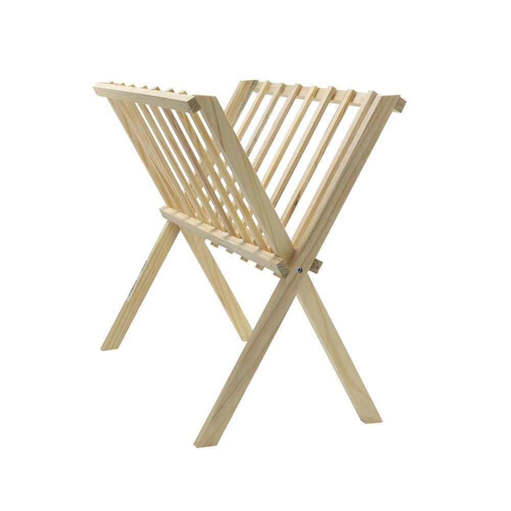 Organizer portariviste da terra 440704 in legno chiaro richiudibile 22x38xH33 cm