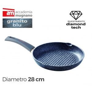 Image of Bistecchiera antiaderente tonda 28 cm Diamond Tech Accademia Mugnano GRANITO BLU 8013498162183