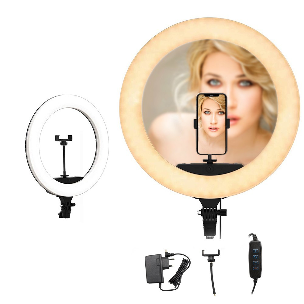 Lampada Anello Luce Led 187158 da 35cm Smartphone per Selfie con Potenziometro