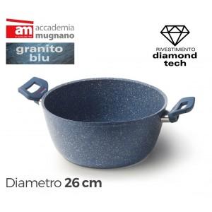 Image of Casseruola antiaderente con due maniglie 26 cm Accademia Mugnano GRANITO BLU 8435524506721