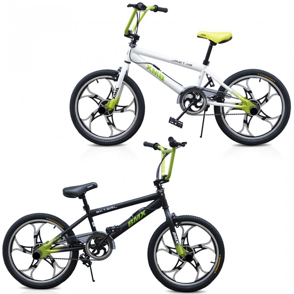 Bicicletta BMX ONE WHEEL FreeStyle Taglia 20 Bici con Cerchi in Lega 6 - 8 anni