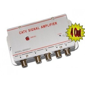 Image of Amplificatore splitter sdoppiatore segnale tv da 1 a 4 uscite digitale terrestre 7106896164765