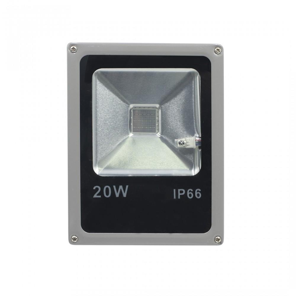 Faro LED RGB da 20w per Esterno Staffa e Angolazione 120° con Protezione IP66