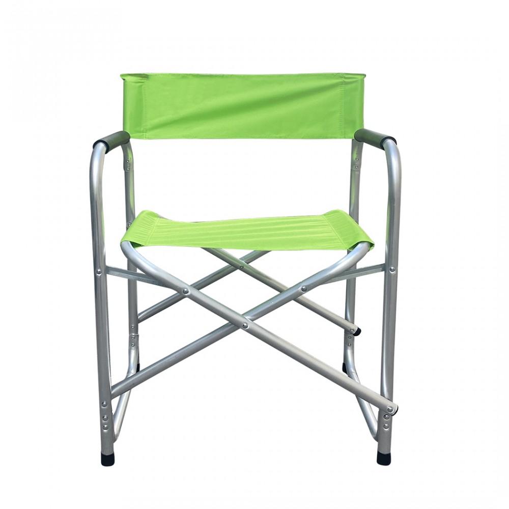 Sedia regista in alluminio FUBUCA pieghevole tessuto Textilene 48x57x80cm VERDE