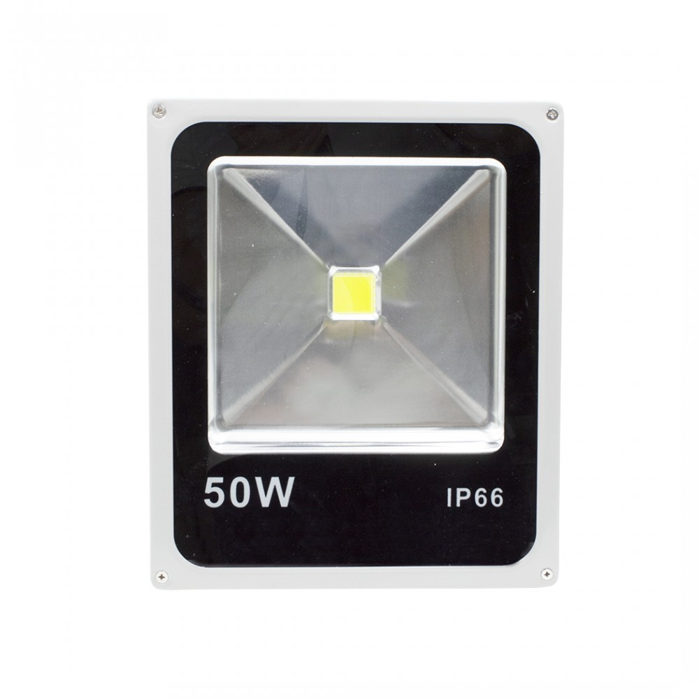 Faro led slim 50w luce fredda con staffa a 120° di angolazione e protezione IP66