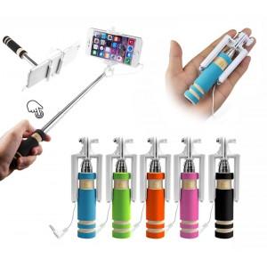 Mini asta per selfie di gruppo solo 15 cm estensibile fino a 48 cm in vari colori pratica e compatta da taschino o borsetta