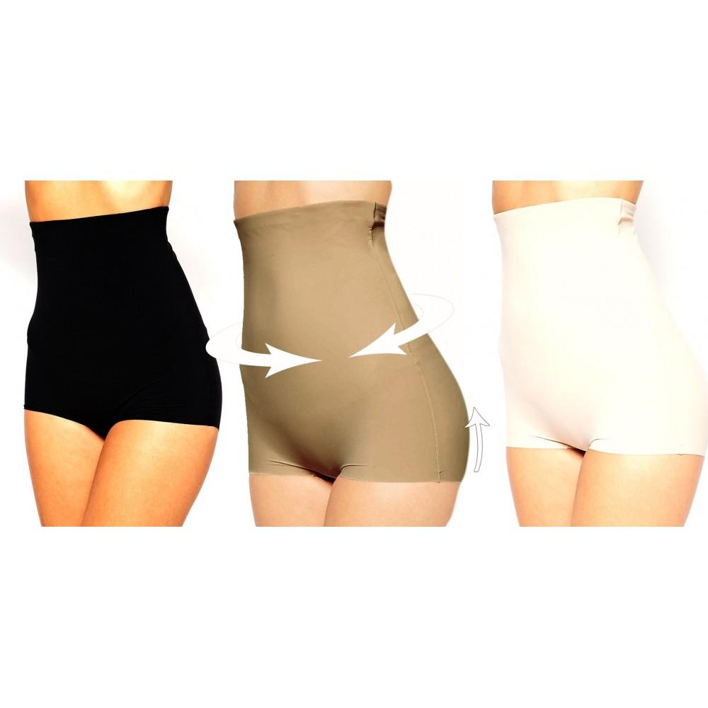 Pantaloncino guaina contenitiva vita alta snellente modellante push up