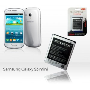 Batteria compatibile Samsung Galaxy S3 Mini e successivi/Galaxy Ace 2 e successivi MaxTech Li-ion battery 1900mAh T010