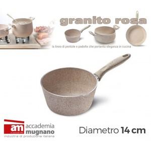 Image of Conica alluminio 14 cm effetto pietra Accademia Mugnano Linea GRANITO ROSA 8018623652201