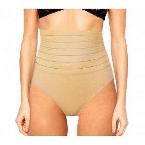 Slip a vita alta con panciera guaina contenitiva addominale integrata in cotone elasticizzato vari colori e taglie