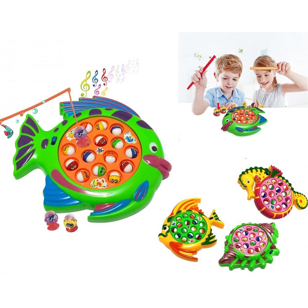 Gioco pesca al pesciolino laghetto con  effetti sonori vari modelli