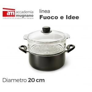 Image of Casseruola con vaporiera 20 cm alluminio puro Accademia Mugnano Linea FUOCO & IDEE 8010638296517