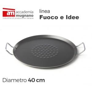 Piastra Regina 40 cm alluminio puro Accademia Mugnano Linea FUOCO & IDEE