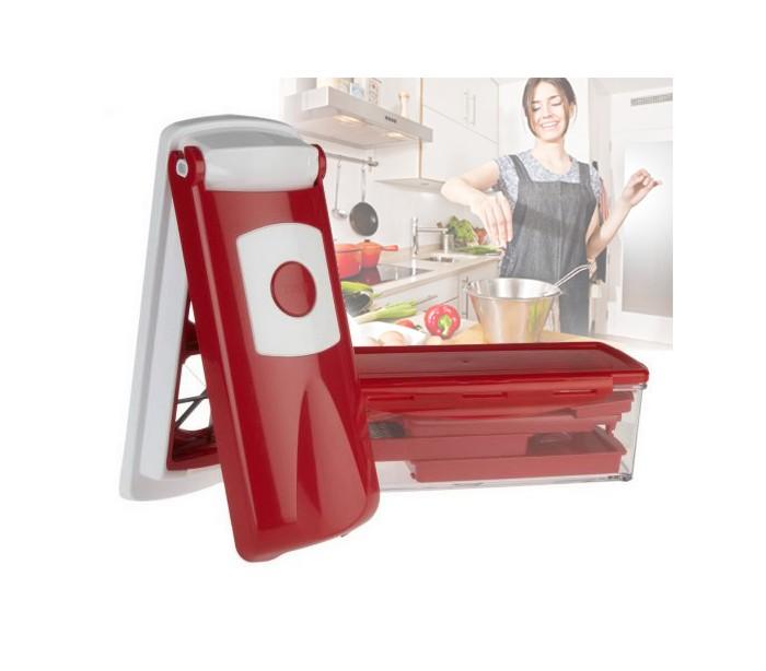 Affettaverdure da cucina manuale con 13 accessori rosso - Accessori da cucina ...