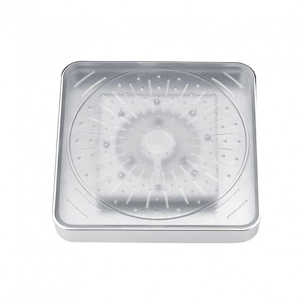 Soffione doccia fisso 8 led RGB Cromoterapia quadrato in ABS ad alta pressione