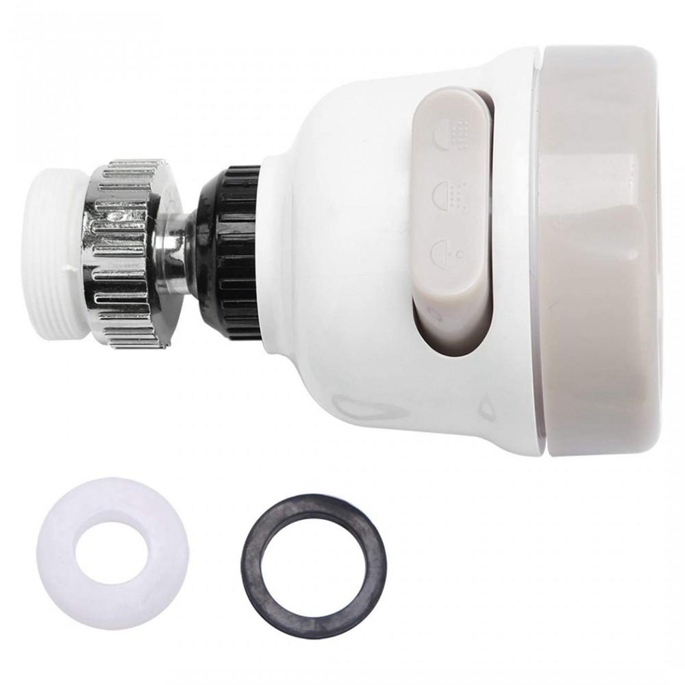 Filtro rubinetto rotante a 360° 593278 in ABS resistente 3 spruzzi SPLASH PROOF