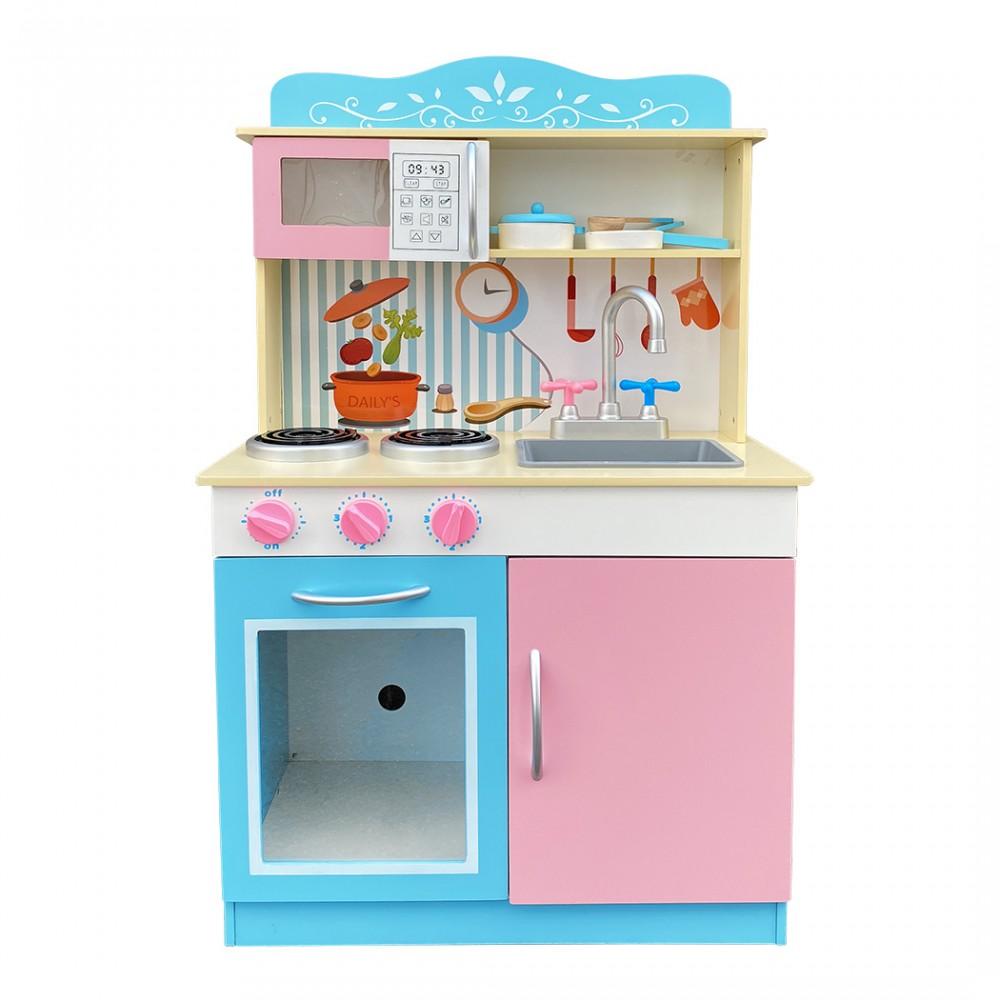 Cucina chef per bambini con accessori 720700 in legno 90Hx30Px53L cm
