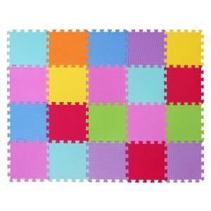Tappeto gioco CIGIOKI puzzle componibile colorato 20 pezzi 30X30 cm schiuma eva