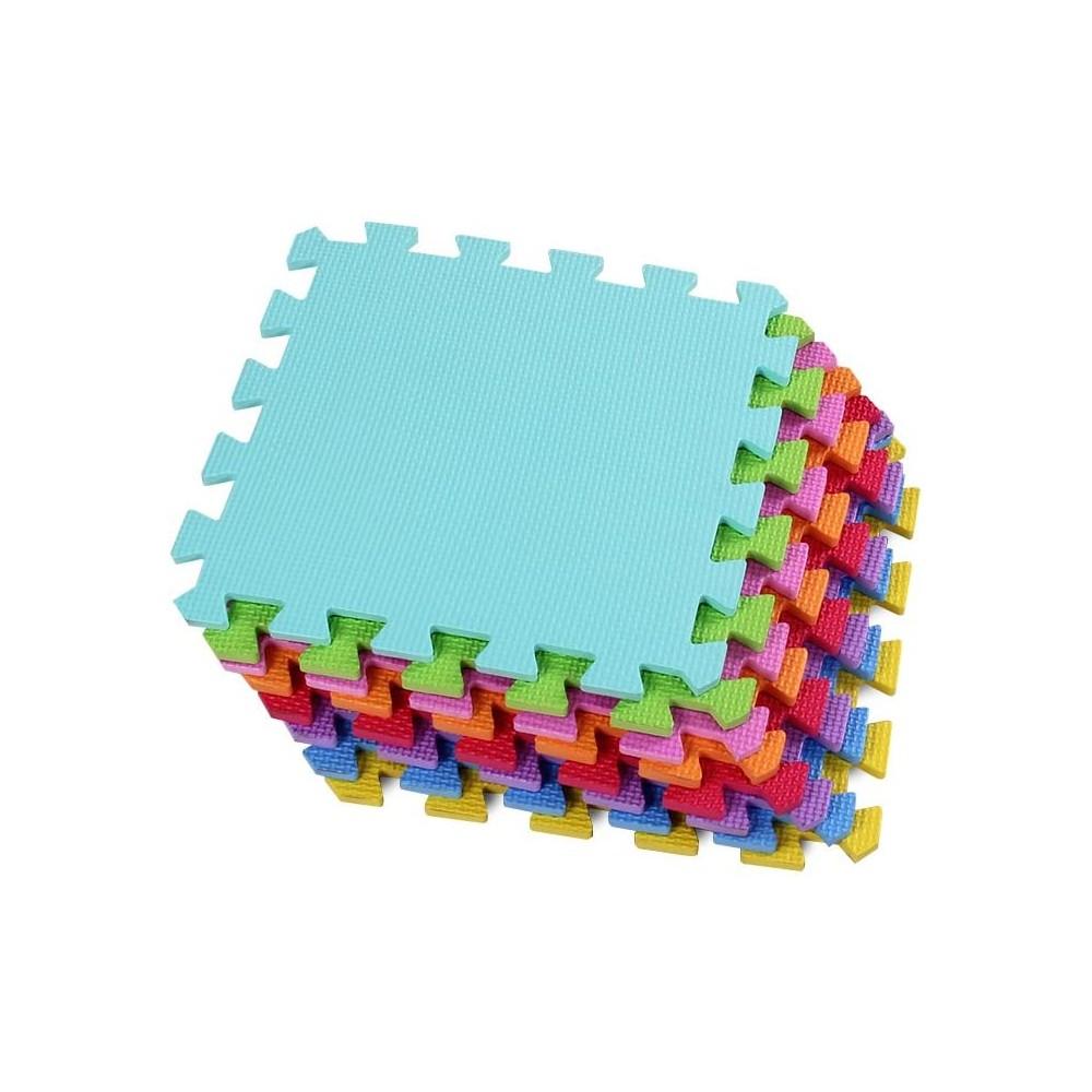 Tappeto gioco CIGIOKI puzzle componibile colorato 50 pezzi 30X30 cm schiuma eva