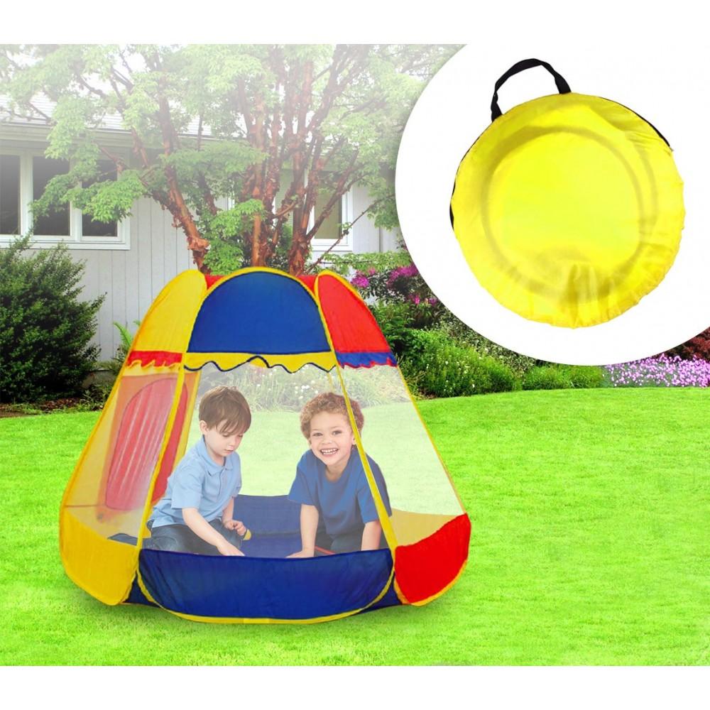 Tenda da gioco ESAGONALE per bimbi e bimbe 156x120 cm con simpatica finestra a rullo Linea Cigioki