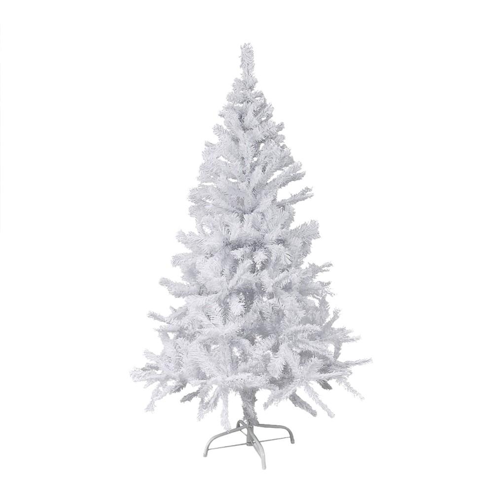 Albero di Natale Bianco 120 cm Abete Artificiale BIANCONATALE Rami Pieghevoli