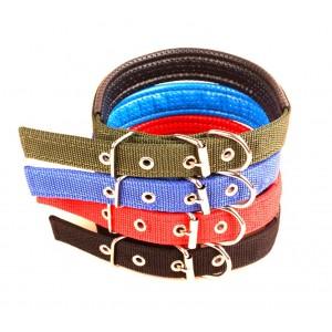 Collare in nylon mod. Phoenix con imbottitura per cani di taglia media con chiusura con fibbia regolabile in diversi colori