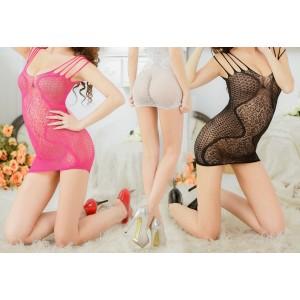 Completino lingerie vestitino in pizzo ricamato sexy  mod. Anais  sensuale by MWS AHEAD con tanga