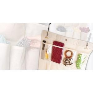 Image of Organizzatore porta oggetti e trucco con specchio centrale 20 tasche salvaspazio 5060240290017