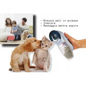 Tosatrice 2 in 1 rimuove peli in eccesso mentre massaggia per cane e gatto SHED indolore