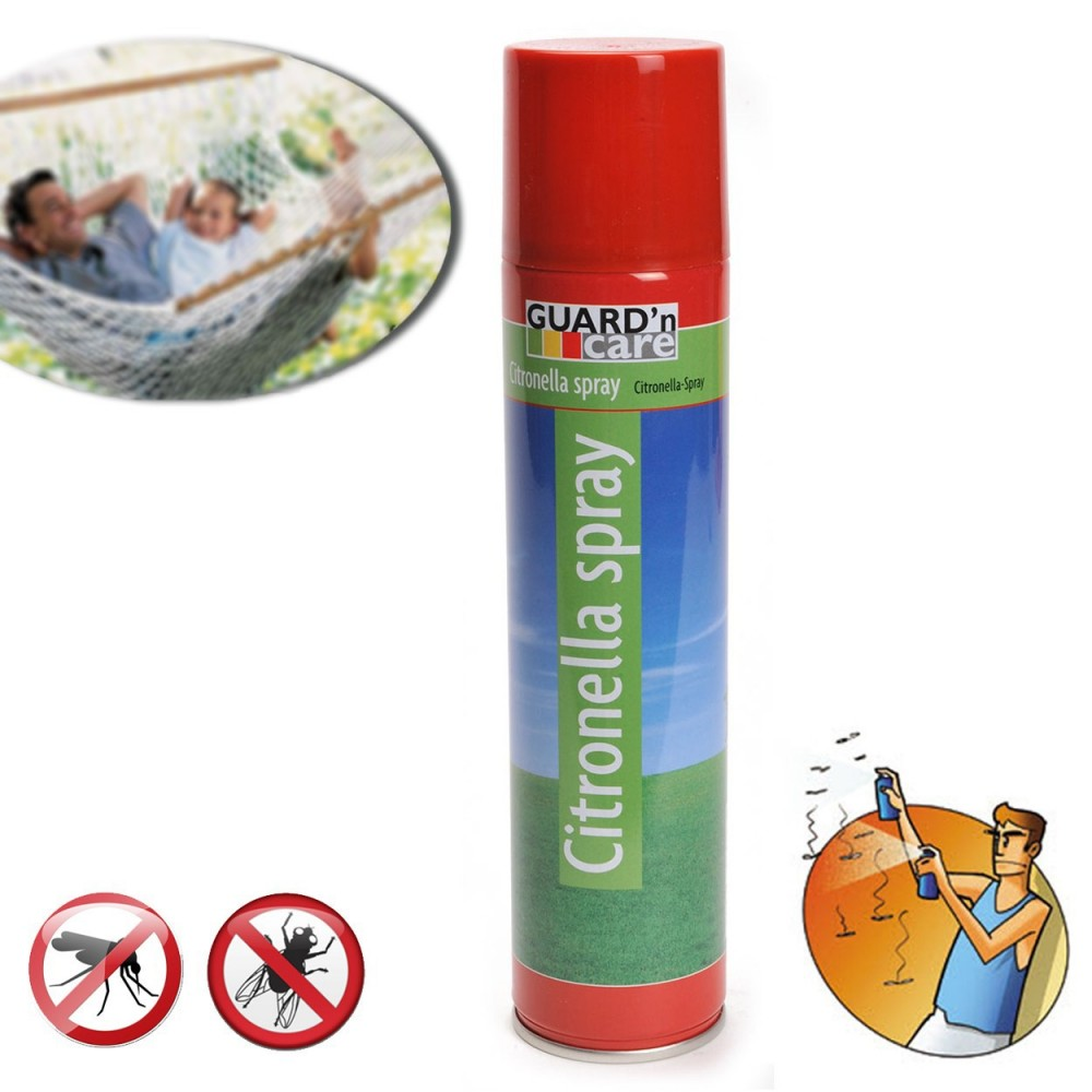 Spray insetticida alla citronella contro mosche e zanzare 300 ml GUARD 'N CARE