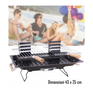 Barbecue da tavolo 43 x 25 cm mod KALBARRI bbq collection portatile