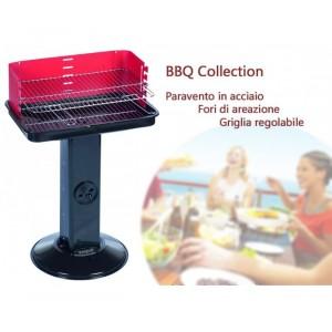 Barbecue a colonna rettangolare 58x38x70 cm BBQ COLLECTION a carboni fori areazione e raccogli cenere