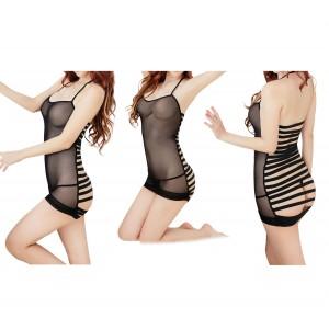 Completino lingerie vestitino sexy con tanga mod. Helene taglia unica sensuale