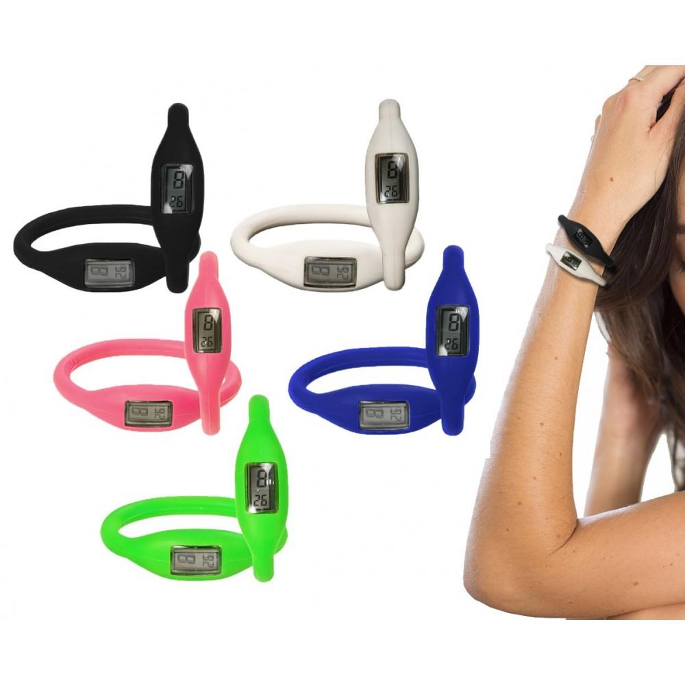 Orologio bracciale led in silicone digitale colorato SECRET SECONDS