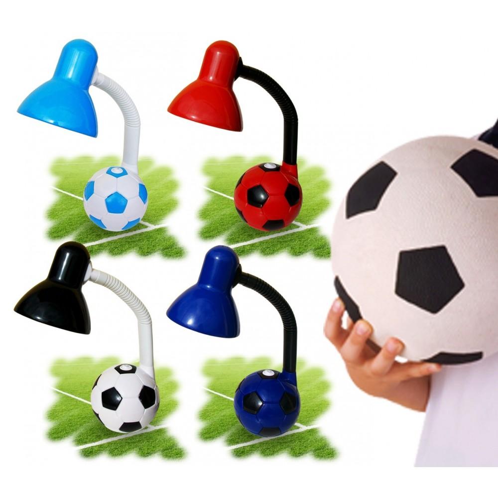 Lampada da scrivania 40W con base pallone da calcio con i colori della tua squadra del cuore