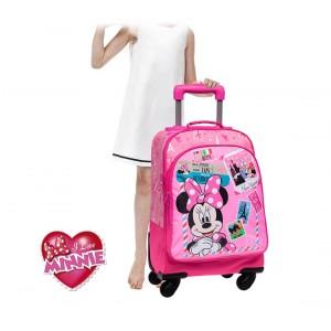 Trolley scuola e viaggio tessuto Minnie & Daisy 4 ruote e maniglia regolabile Disney 33 x 44 x 21 cm 4072851