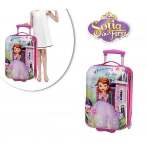Trolley rigido viaggio principessa SOFIA due ruote e maniglia regolabile 33 x 55 x 20 cm 4031251