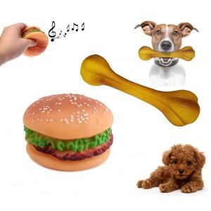 Giochi masticabili sonori per animali riportino per cani di tutte le taglie in morbida gomma resistente