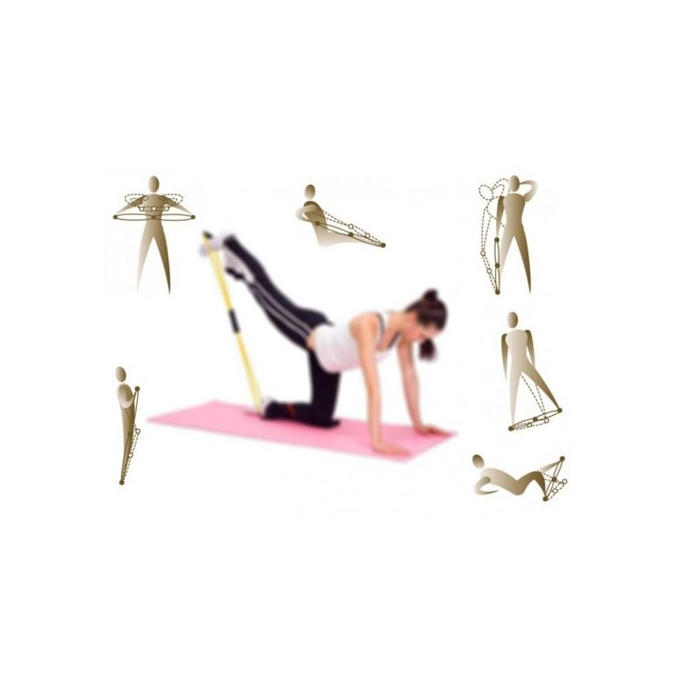 Estensore elastico per allenamento yoga braccia gambe fitness