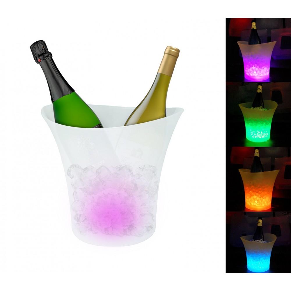Seau a glace Cestello per il ghiaccio Champagne luminoso a LED cambio automatico 6 colori