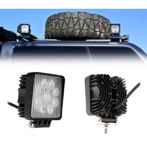 Faro led per auto camion e barche off road impermeabile e resistente alla polvere 27 watt luce bianca