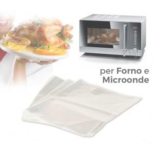 Kit 3 pezzi sacchetto 35 x 43 cm da forno e microonde alimentazione sana senza grassi