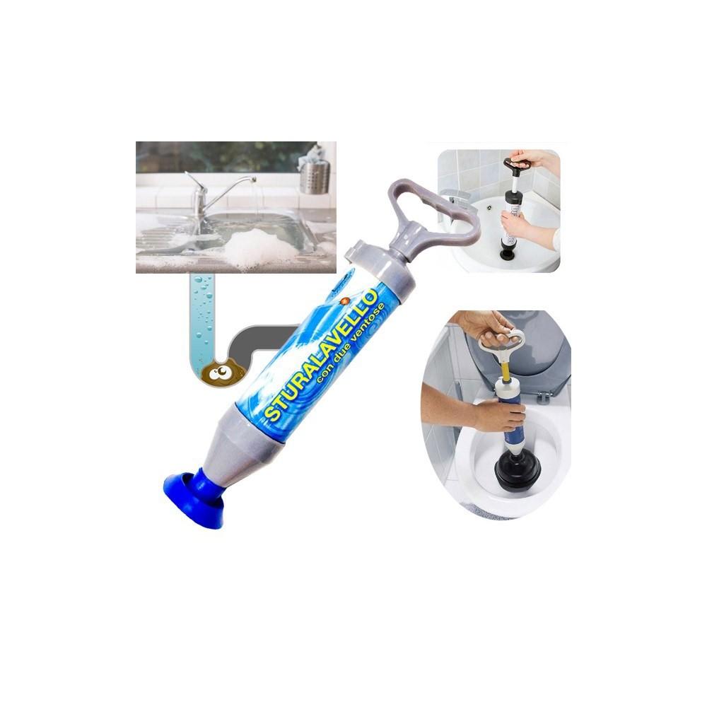 Pompa sturalavandini scarichi e wc con maniglia a tiraggio manuale libera tubi senza alcun sforzo