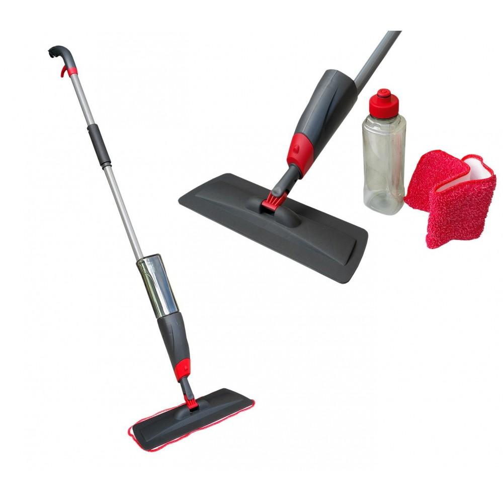 Scopa spray lavapavimenti 2 in 1 igienizzante manuale con panno microfibra
