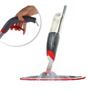 Scopa spray lavapavimenti 2 in 1 igienizzante manuale con panno lavabile in microfibra serbatoio per acqua e detersivo