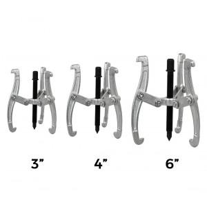 Estrattori di cuscinetti per auto a 3 griffe misure 3-4-6 pollici per uso industriale, meccanico, officine e macchinari agricoli