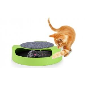 Gioco per gatti Acchiappa il topo duplice funzione con tiragraffi